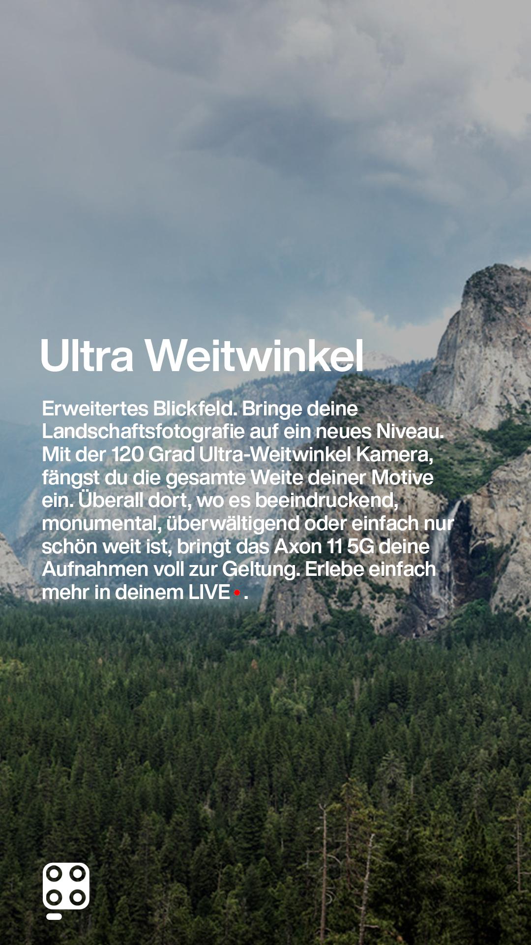 weitwinkel bild von berglandschaft responsiv