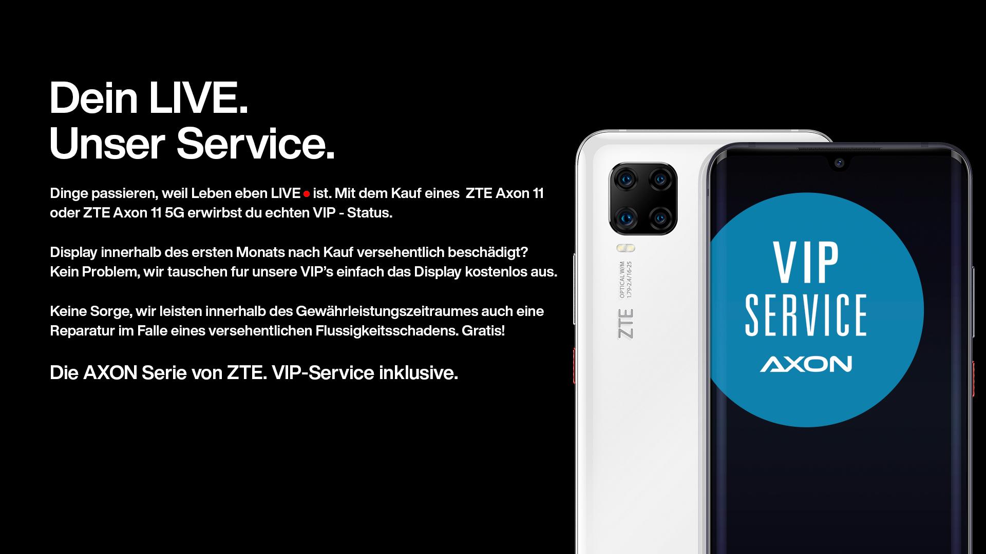 Axon Smartphones mit VIP-Service und Garantie
