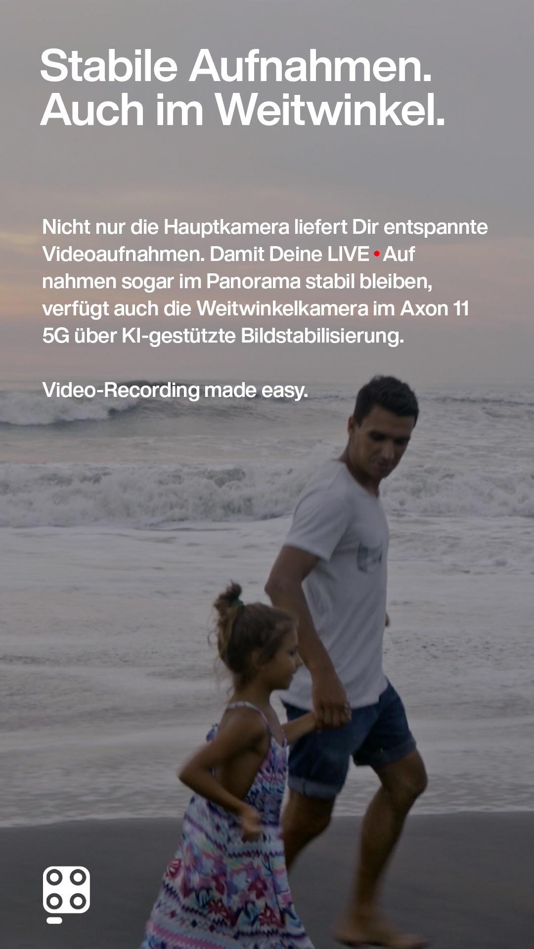 Vater und Tochter laufen über den Strand responsiv