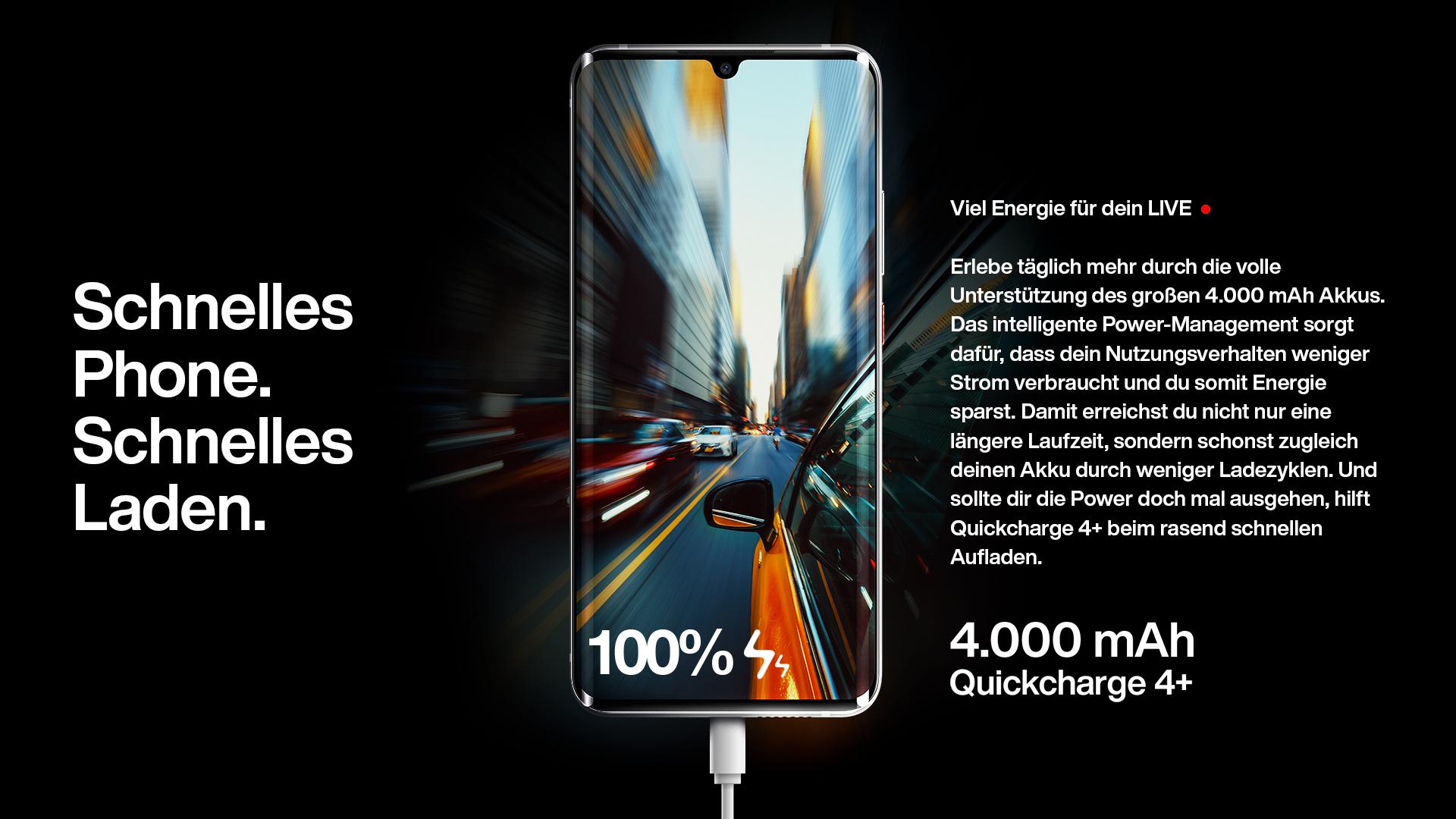 Smartphone wird schnell aufgeladen