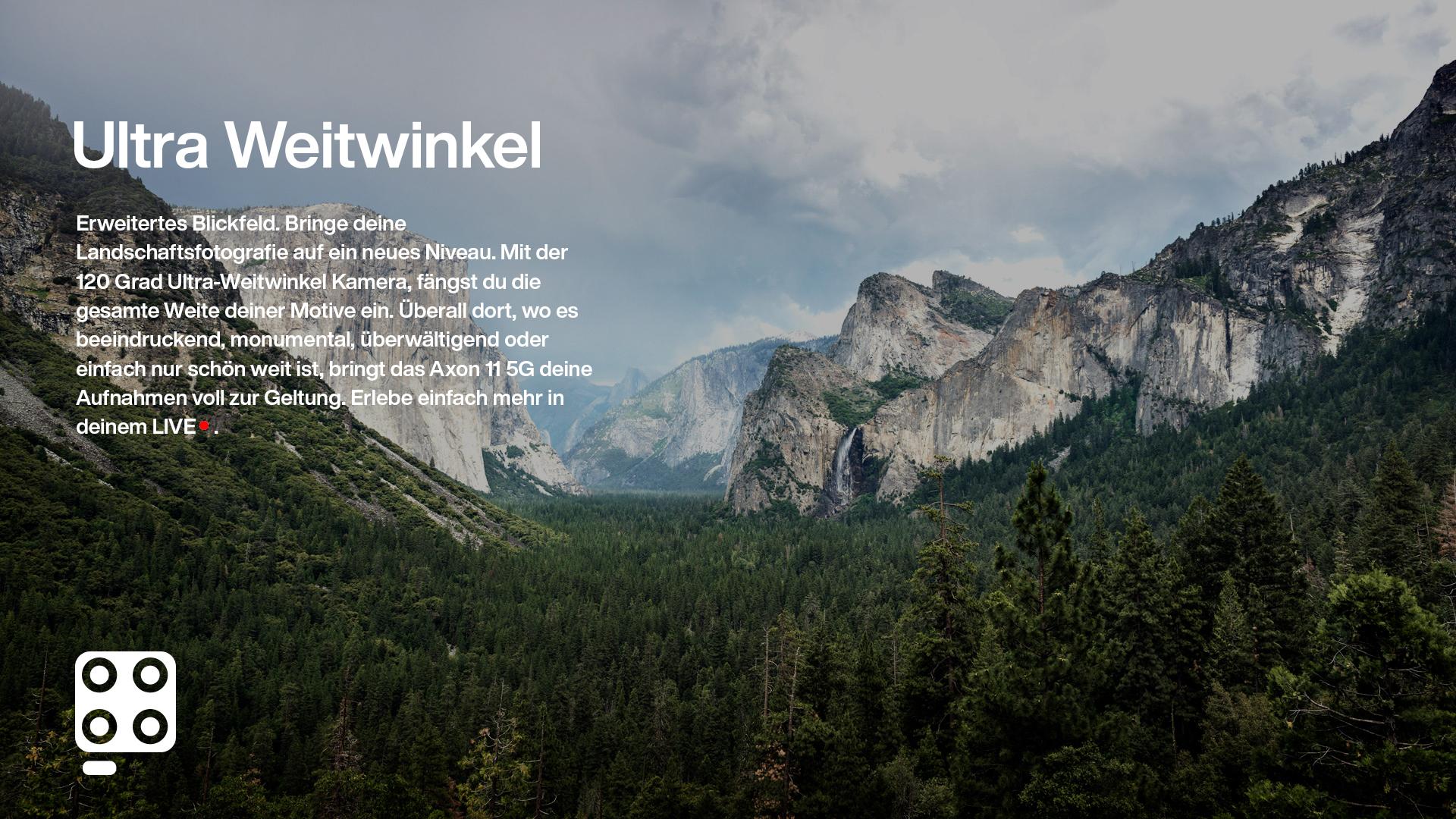 weitwinkel bild von berglandschaft