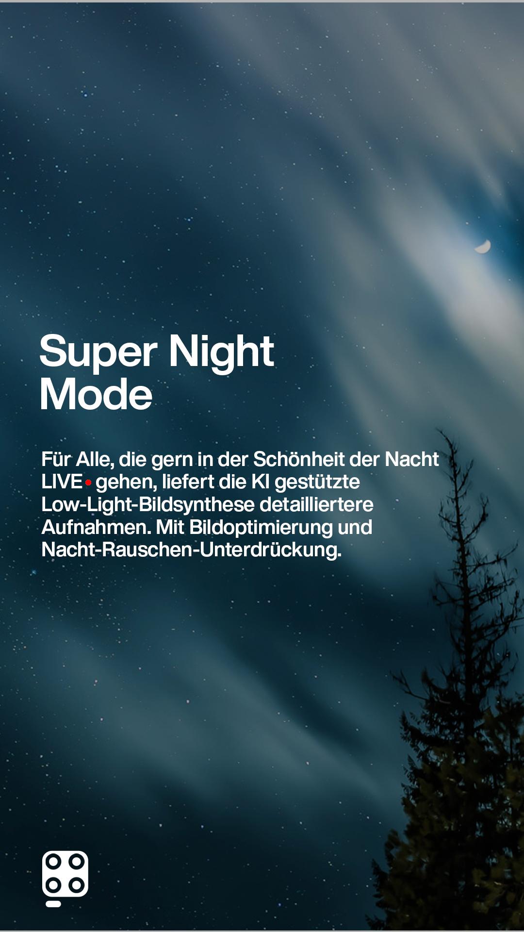 aufnahme von Nachthimmel im Wald responsiv