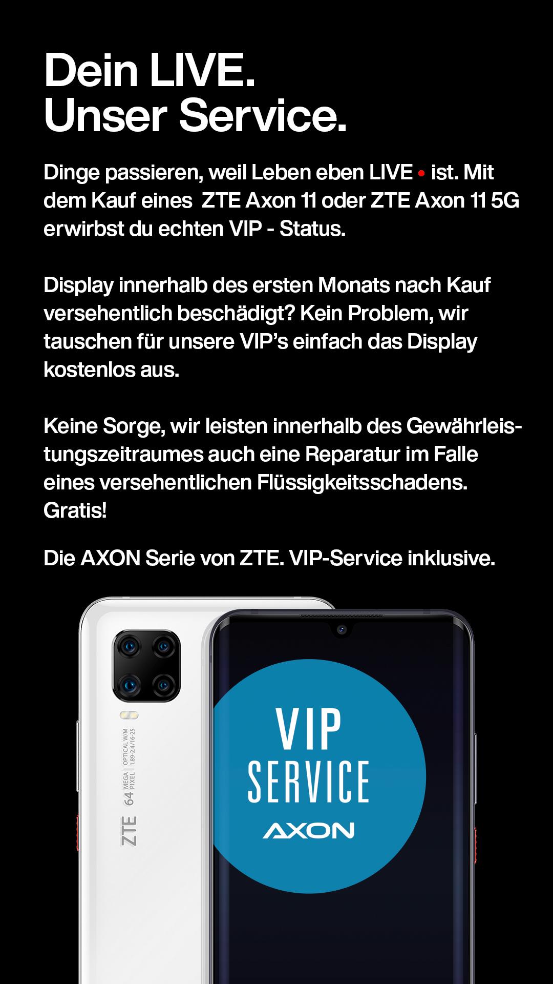 Axon Smartphones mit VIP-Service und Garantie responsiv