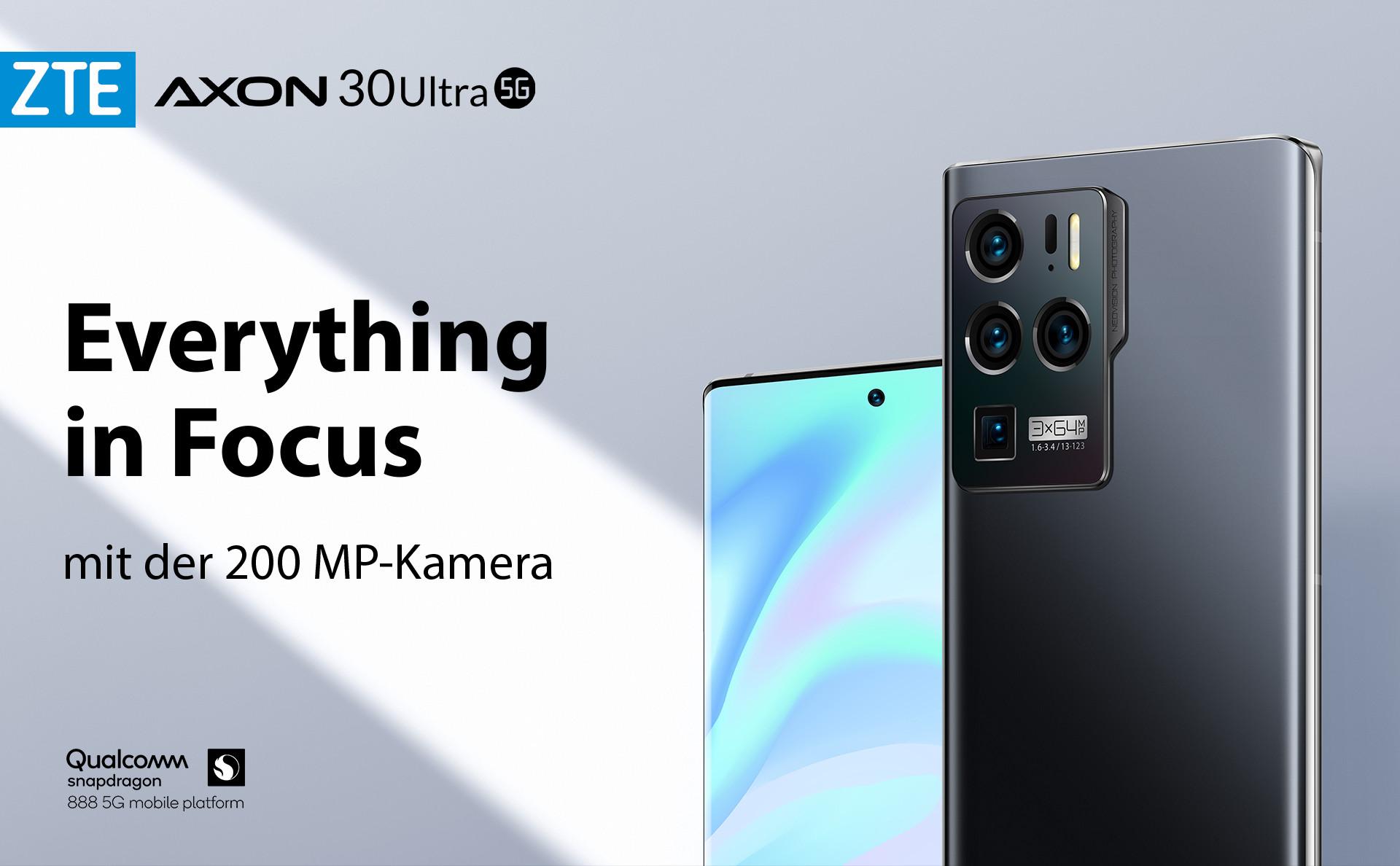 Das ZTE Axon 30 Ultra - Everything in Focus mit der 200 MP Kamera und Qualcomm Snapdragon 888 Prozessor