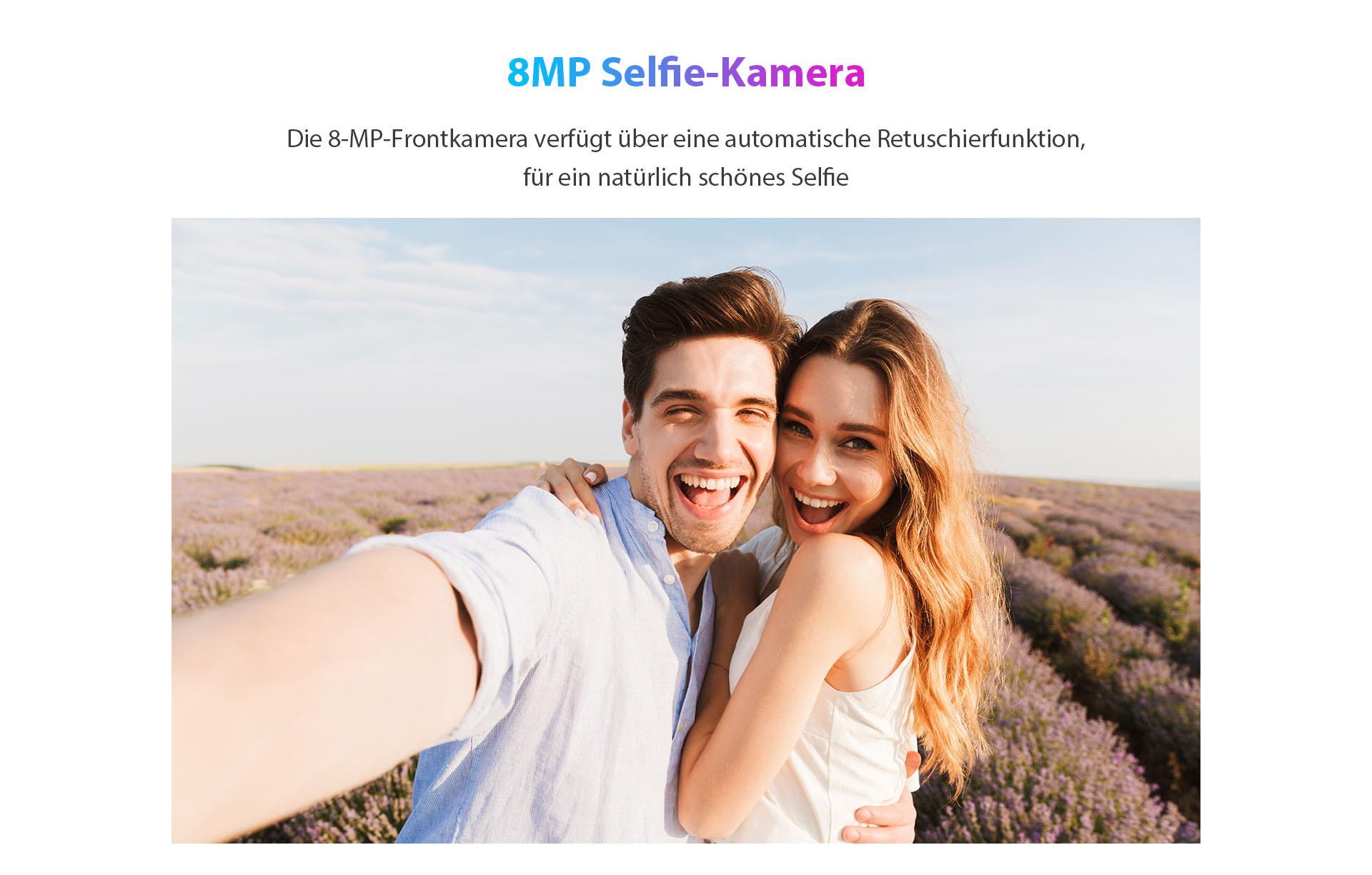ZTE V30 Vita mit 8MP Selfie-Kamera - Die 8-MP-Frontkamera verfügt über eine automatische Retuschierfunktion für ein natürlich schönes Selfie.