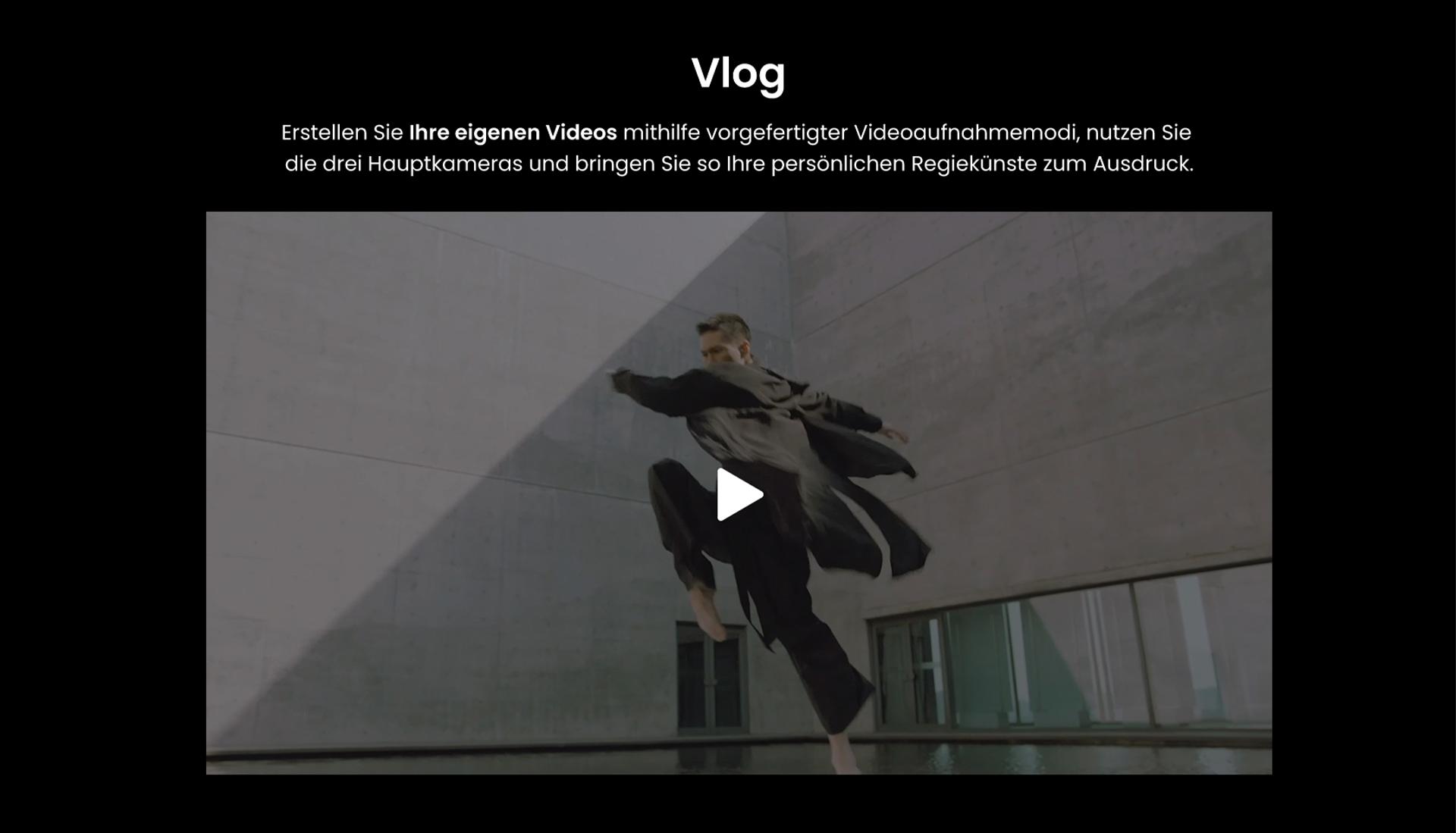 Vlog mit dem ZTE Axon 30 Ultra - Erstellen Sie Ihre eigenen Videos mithilfe vorgefertigter Videoaufnahmemodi, nutzen Sie die drei Hauptkameras und bringen Sie so Ihre persönlichen Regiekünste zum Ausdruck