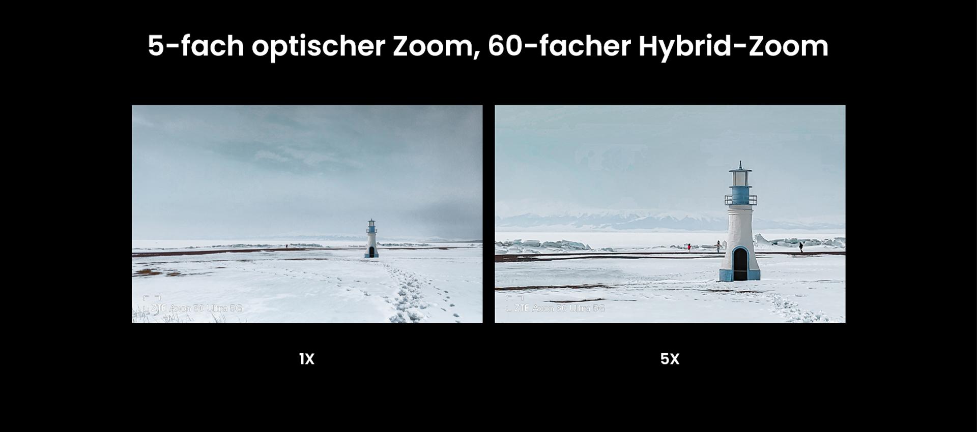 Das ZTE Axon 30 Ultra mit 5-fach optischen Zoom, 60-fachen Hybrid-Zoom